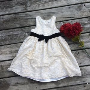 Cherokee Ivory & Gold Lace Dress
